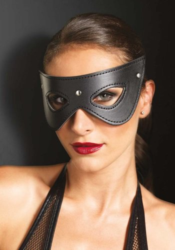 Leg Avenue Faux Leather Studded Eye Mask