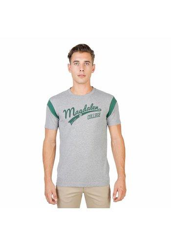 Oxford University Heren T-Shirt van Oxford University MAGDALEN-VARSITY-MM - grijs
