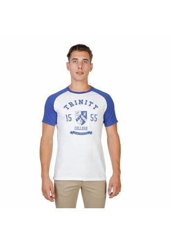 Oxford University Tee-shirt homme Oxford University TRINITY-RAGLAN-MM - blanc / bleu