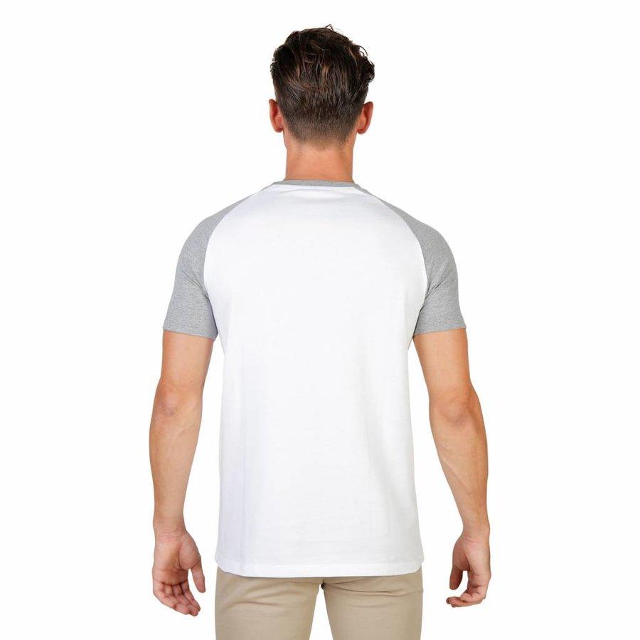 Männer T-Shirt von der Universität Oxford MAGDALEN-RAGLAN-MM - weiß / grau
