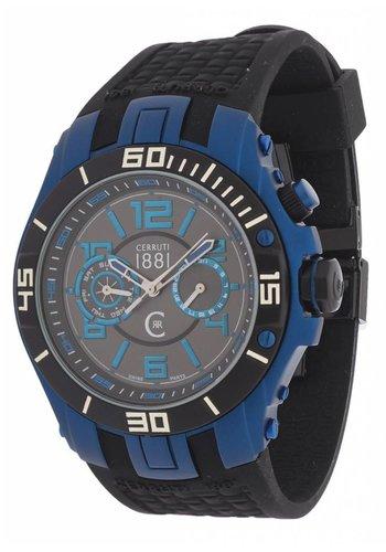 Cerruti Herrenuhr von Cerruti CRA070W - blau / schwarz