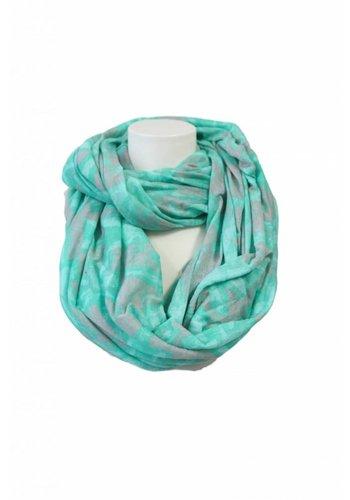 Romano Dames sjaal groen-grijze print