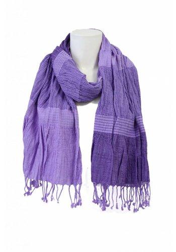 Clockhouse Dames sjaal licht-paars met blokmotief