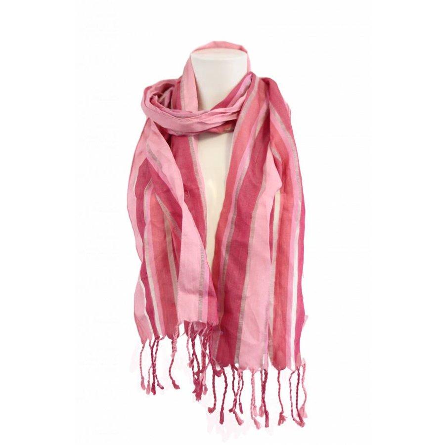 Damen Schal mit rosa Streifen
