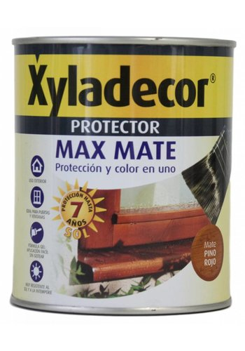 Xyladecor Hout protector - Max Mate - rode den - 750 ml