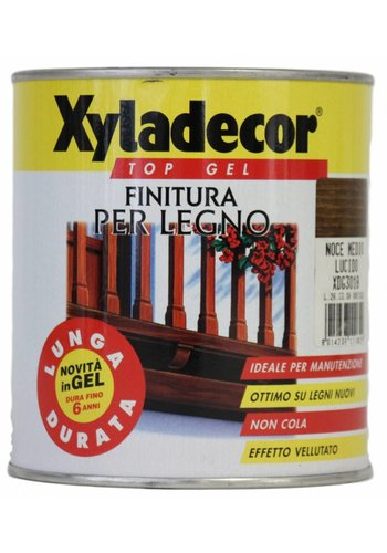 Xyladecor XYLADECOR TOP GEL für Holz, Farbe Medium glänzend Nussbaum 750ML