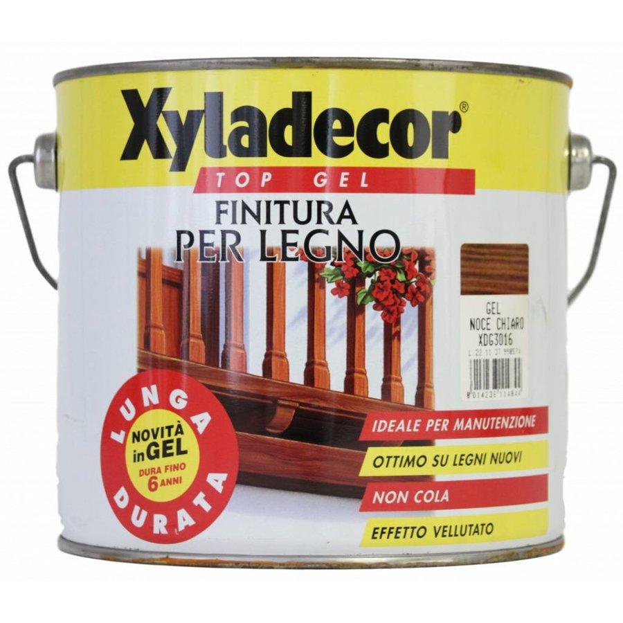 Top gel voor hout - lichte walnoot - 2,5 liter