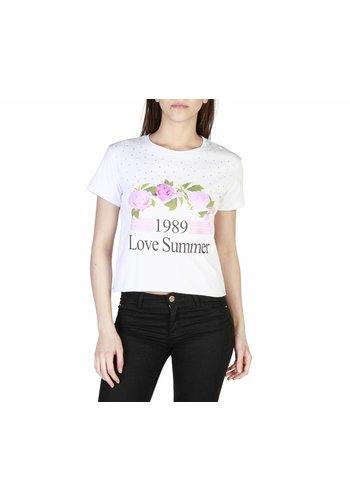 Miss Miss Dames T-shirt van Miss Miss - wit