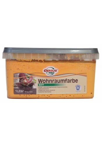 Genius Pro Huiskamer verf MAT, kleur Naranja, 1Liter
