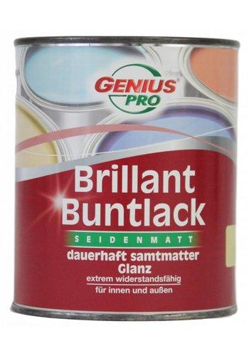 Genius Pro Vernis brillant soyeux mat velours permanent mat brillant, couleur jaune tendre 750 ml...