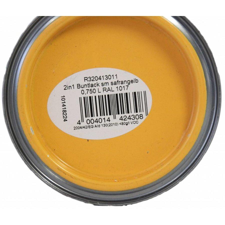 Zijdeglans - 2in1 verf - saffraangeel 750 ml