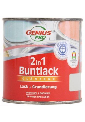 Genius Pro Lack 2 in 1 Hochglanz, Farbe hellgrau, 375ML