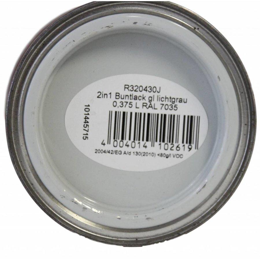 Hoogglans 2 in 1 verf - lichtgrijs - 375 ml