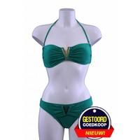 Bikini V-bandeau groen