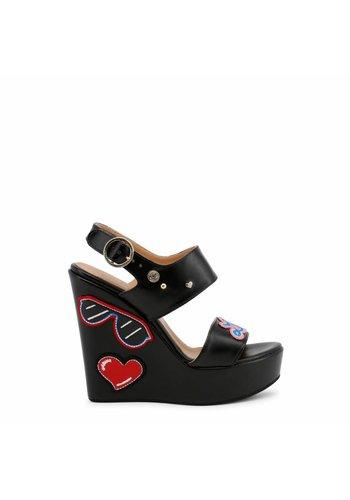 Love Moschino Damen Keilabsatz von Love Moschino - schwarz