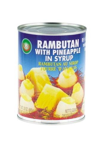 X.O Rambutan & Ananas in siroop 565 gram