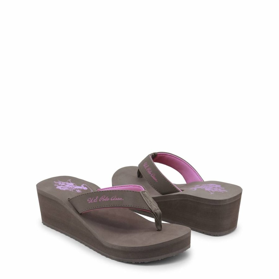 Damen Slipper von US Polo - braun