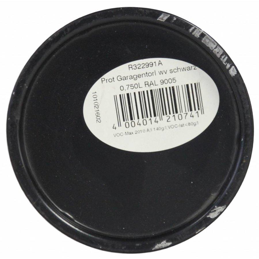 Garagentorfarbe satin, Farbe schwarz RAL 9005, 750ML