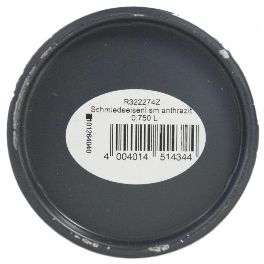 Schmiedeeisenfarbe, Farbe anthrazit, 750ML