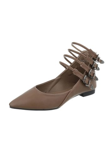 Neckermann Damen Ballerinas - khaki