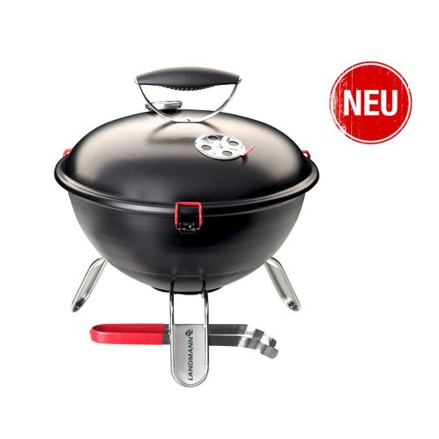 Houtskoolbarbecue - Piccolino - Zwart - 34 cm