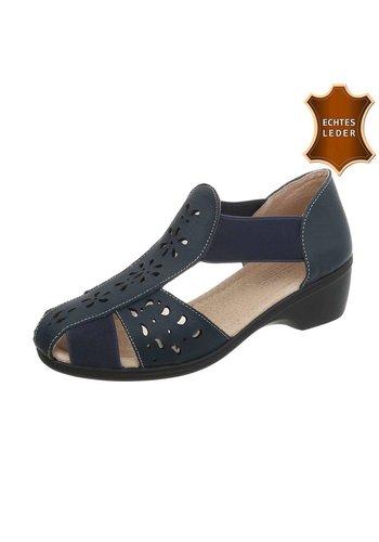 Neckermann Damen Sandalen - blaues Leder