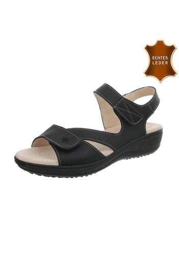 Neckermann Damen Sandalen Leder - schwarz
