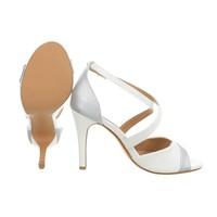 Damen Open Heel Schuh - weiß
