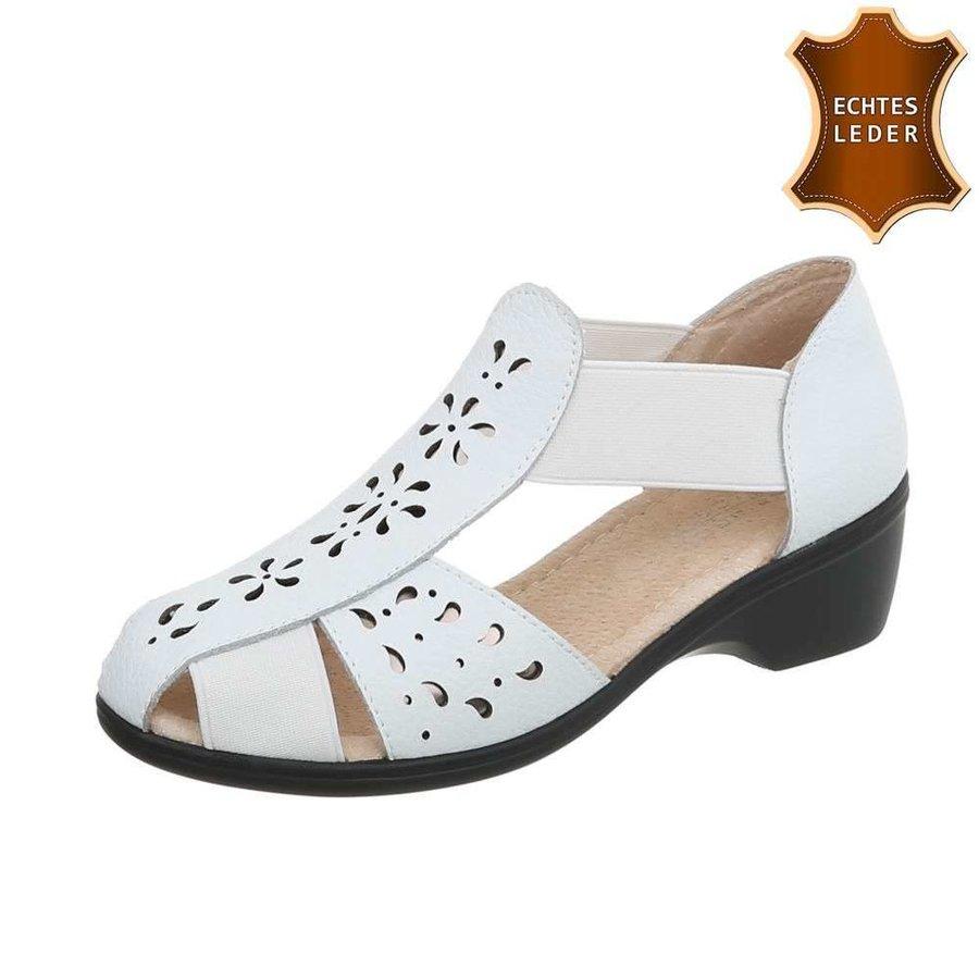 Damen Flache Sandalen - white