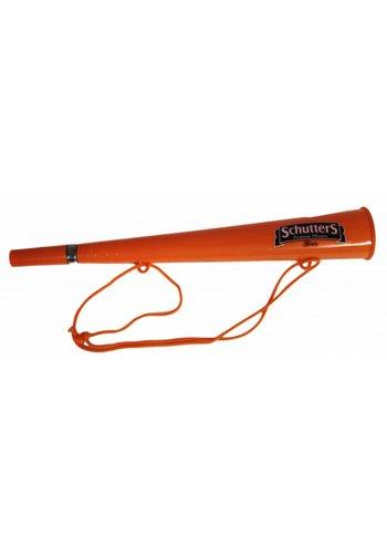 Neckermann Oranje toeter met koord - 36 cm