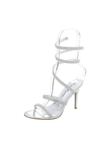 Neckermann Damen Open Schuh mit hohem Absatz - Silber