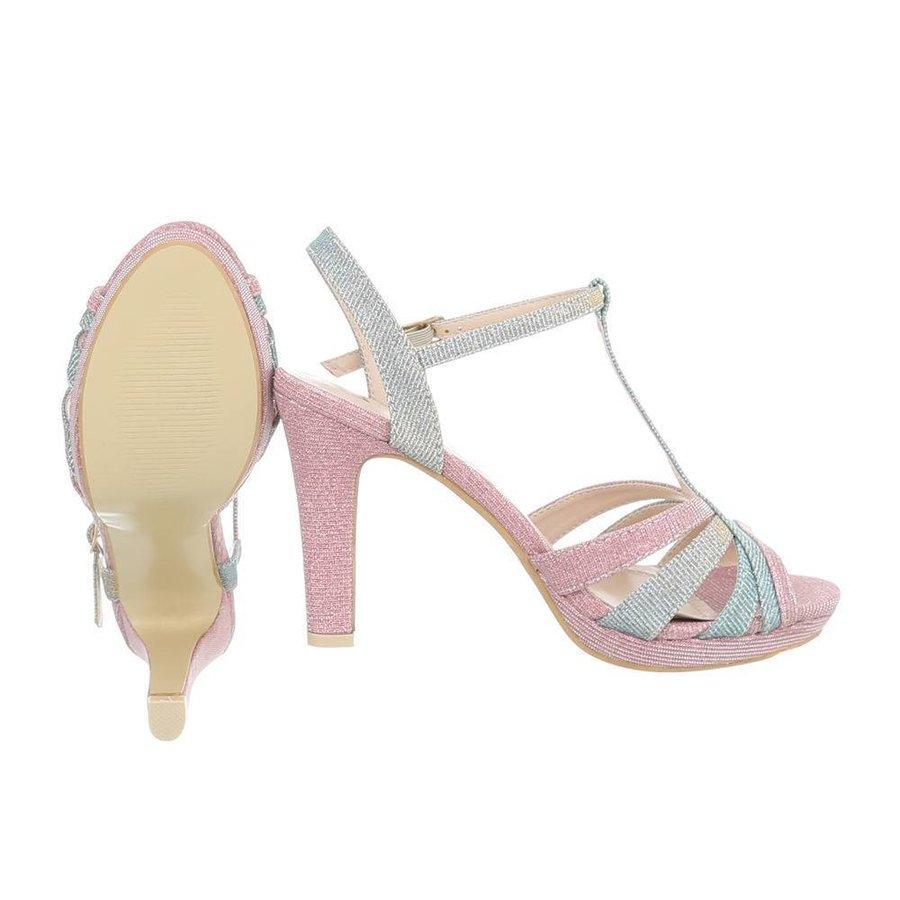 Damen High Heels mit Peeptoe - Pink