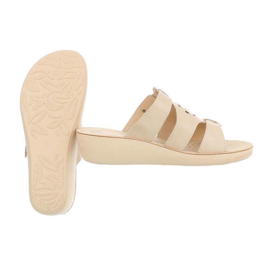 Damen Slipper mit ergonomischer Sohle - beige