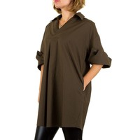 Damen Bluse Gr. one size - coffee