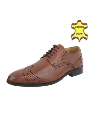 Neckermann heren business schoenen van tan Echt Leer