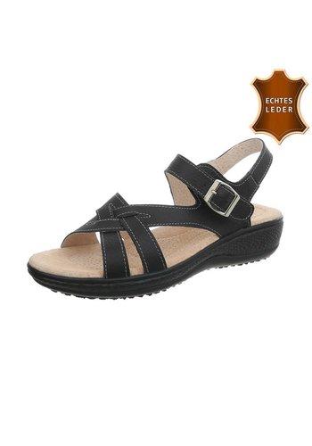 Neckermann Damen Sandalen - schwarzes Leder