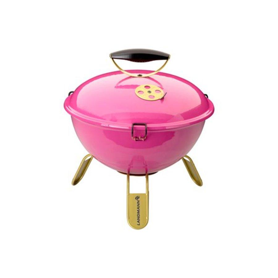 Houtskoolbarbecue - Piccolino - Roze - 34 cm
