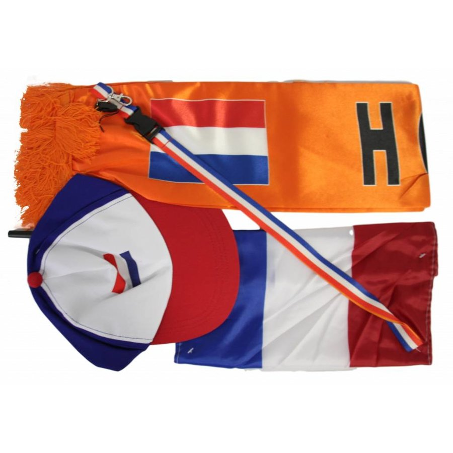 Oranje feestkleding set