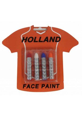 Neckermann Oranje Holland schmink sticks