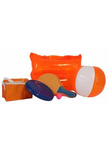 Neckermann Oranje Strandset met draagtas
