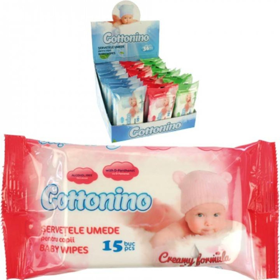 Vochtige babydoekjes - geen alcohol - 15 stuks