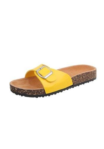 Neckermann Damen Slipper mit verstellbarer Schnalle - gelb