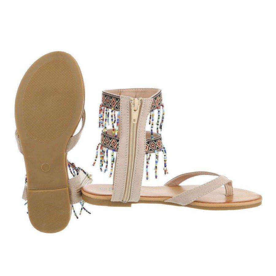 Damen Sandalen - taupe