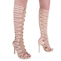 Damen Offener High Heel - beige