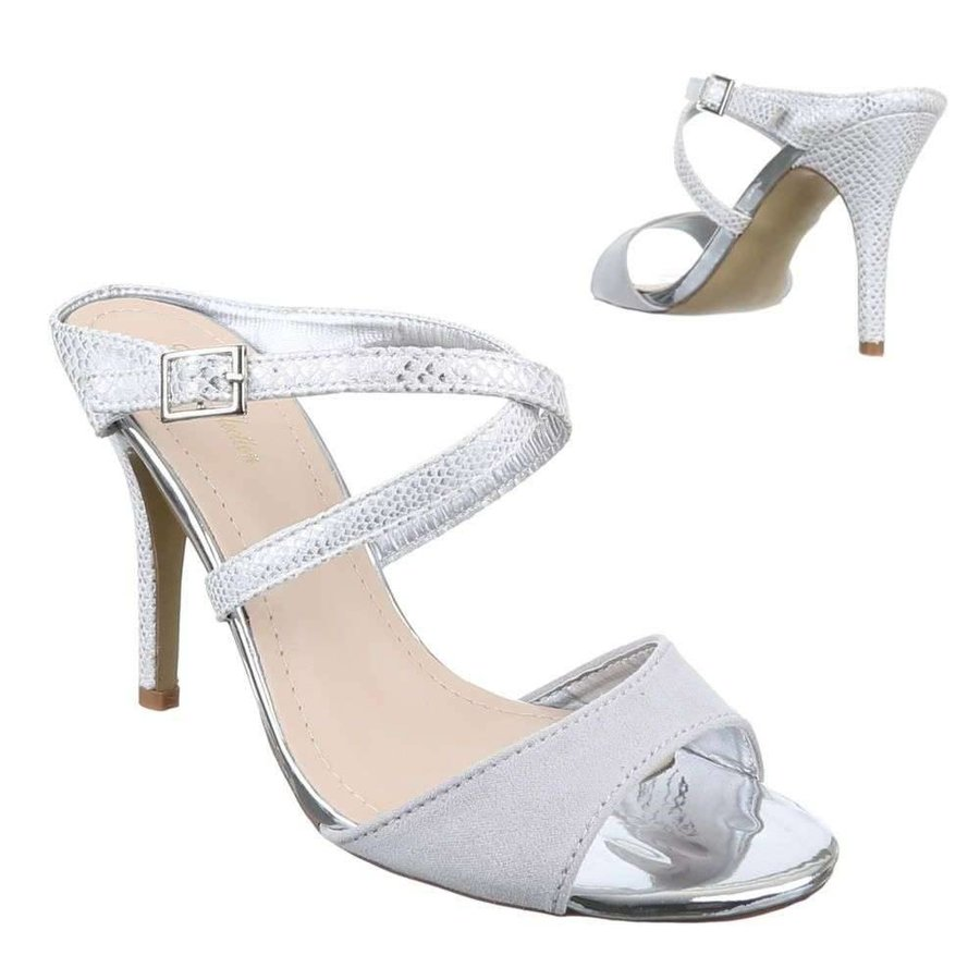 Damen Open Schuh - Silber
