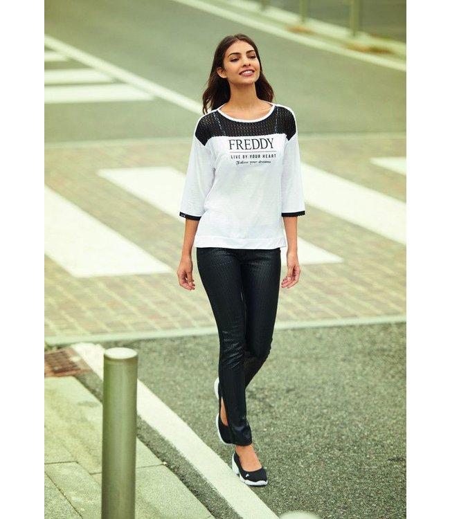 T-Shirt T-Shirt Manica 3/4 - White