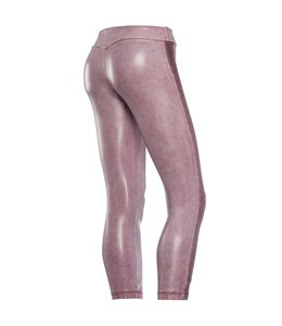Super Fit Pantalone 7/8 - Pink Eco Leather