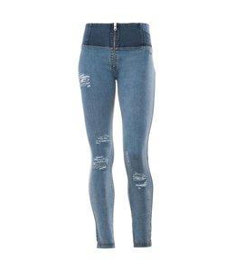 WR.UP® WR.UP® Pantalone Lungo - Blue High Waist Distressed Denim