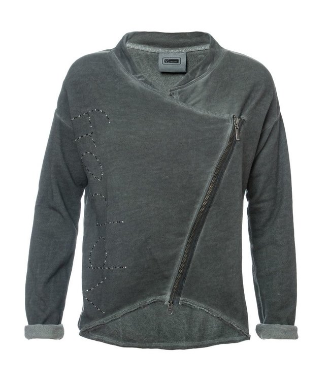 Lounge Wear Felpa Zip - Full Zip Sweatshirt - Grey
