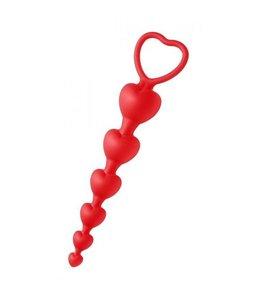 Frisky Sweet Heart anaal kralen - siliconen